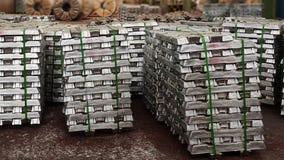 Lingotti di alluminio Immagine Stock Libera da Diritti