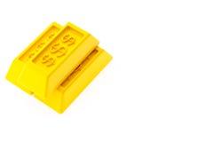 Lingotti lucidi dell'oro Immagine Stock