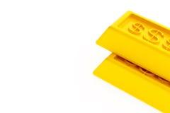Lingotti lucidi dell'oro Fotografie Stock Libere da Diritti