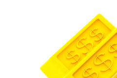 Lingotti lucidi dell'oro Fotografia Stock Libera da Diritti