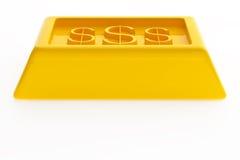 Lingotti lucidi dell'oro Immagini Stock Libere da Diritti