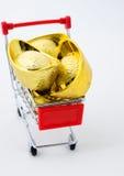 Lingotto cinese dell'oro Fotografie Stock Libere da Diritti
