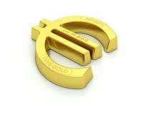 Lingotto dell'euro dell'oro Fotografia Stock Libera da Diritti