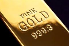 Lingotto dell'oro Fotografie Stock Libere da Diritti