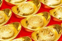 Lingotto dell'oro di Cina durante il nuovo anno cinese festivo Immagine Stock Libera da Diritti