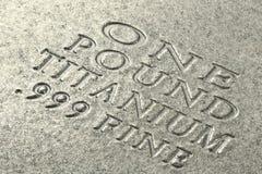 Lingotto di titanio immagine stock libera da diritti