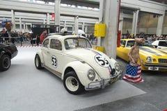 04-18-2015 Lingotto Fiere в Турине, Италии, комиксах Турин, Herbie, экспозиции beatle Volkswagen стоковое фото