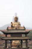 China Wuxi Lingshan Buddha. The Lingshan Buddha-high 88 m, 79 m Buddha-body, lotus petals 9 m. 2, 1560 6-8 mm thick copper siding, the Lingshan large Fofo body ( Stock Images