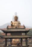 China Wuxi Lingshan Buddha. The Lingshan Buddha-high 88 m, 79 m Buddha-body, lotus petals 9 m. 2, 1560 6-8 mm thick copper siding, the Lingshan large Fofo body ( stock images