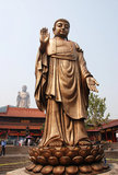 Lingshan buddha. Located at the south of the Maji Mountain, Wuxi, Jiangsu Province, the Grand Buddha and the famous Xiangfu temple nearby are the well-known Royalty Free Stock Photos