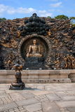 """Lingshan Giant Buddha Scenic Area """"down Monsters Road"""" large copper sculpture Stock Photos"""