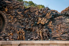 """Lingshan Giant Buddha Scenic Area """"down Monsters Road"""" large copper sculpture Stock Image"""