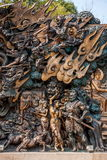 """Lingshan Giant Buddha Scenic Area """"down Monsters Road"""" large copper sculpture Royalty Free Stock Images"""