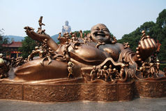 Lingshan Grand Buddha. Located at the south of the Maji Mountain, Wuxi, Jiangsu Province, the Grand Buddha and the famous Xiangfu temple nearby are the well Stock Images