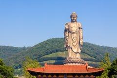 Lingshan tusen dollar Buddha royaltyfri bild