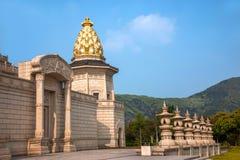 Lingshan Vaticanenslott i det Lingshan berget Arkivbild