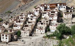 Lingshed gompa - buddhist monastery in Zanskar valley - Ladakh Royalty Free Stock Photo