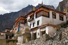 Lingshed gompa - buddhist monastery in Zanskar valley - Ladakh - Jammu and Kashmir - India Royalty Free Stock Images