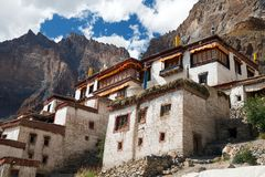 Lingshed gompa - buddhist monastery in Zanskar valley Stock Image