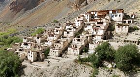 Lingshedgompa - buddhist monastery in Zanskar Royalty Free Stock Photos