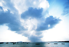 Lingshui Coconut Island offshore clouds Stock Image