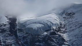 Lingua del ghiacciaio sul Jungfraujoch Immagine Stock