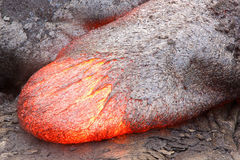 Lingua fluida della lava Immagine Stock