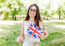 Lingua inglese che impara studente Fotografie Stock