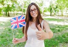 Lingua inglese che impara studente Fotografia Stock