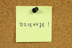 Lingua polacca fotografie stock
