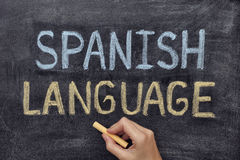 Lingua spagnola Fotografia Stock Libera da Diritti