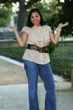 Linguagem corporal 6 feliz e da alegria Fotografia de Stock Royalty Free