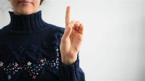 Linguagem gestual video estoque