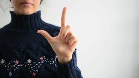Linguagem gestual 2 video estoque