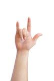 Linguagem gestual da mão Imagem de Stock