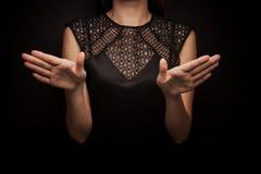 Linguagem gestual da palavra Fotografia de Stock Royalty Free