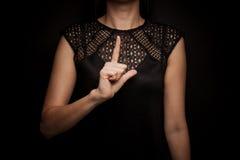 Linguagem gestual da palavra Imagem de Stock