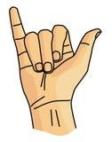 Linguagem gestual de Y Foto de Stock Royalty Free