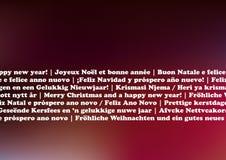 Linguaggi della cartolina di Natale Fotografie Stock