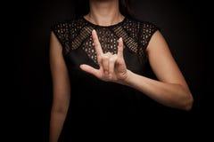 Linguaggio dei segni della parola fotografia stock