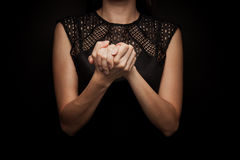 Linguaggio dei segni della parola fotografie stock libere da diritti