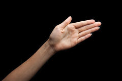 Linguaggio dei segni di Dio per il sordo immagine stock