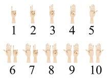 Linguaggio dei segni sordo isolato su bianco immagini stock libere da diritti