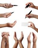 Linguaggio del corpo di gesto di mano Fotografie Stock