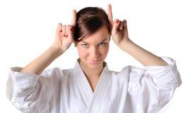Linguaggio del corpo giapponese: rabbia Fotografie Stock