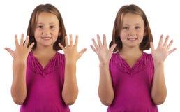 Linguaggio di segno interamente fatto Fotografia Stock Libera da Diritti
