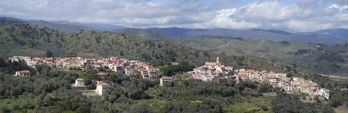 Lingueglietta 古老村庄在意大利的利古里亚地区 库存照片