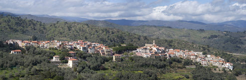 Lingueglietta. Ancient village in Liguria region of Italy Stock Photos