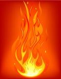 Linguetta del fuoco Fotografia Stock