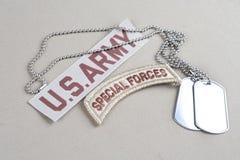 Linguetta delle forze speciali dell'ESERCITO AMERICANO Fotografia Stock Libera da Diritti
